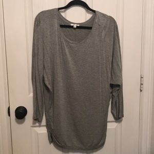 Sophie Max 3/4 sleeve gray tunic